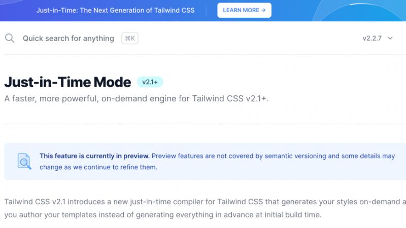 CMS Tailwind JIT compiler